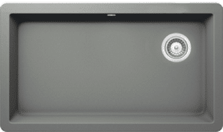 grey quartz sink