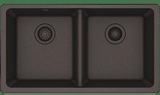 brown quartz sink