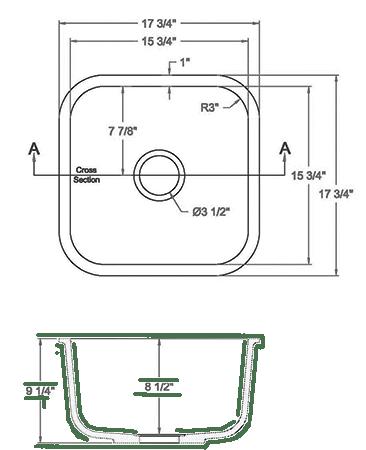 GEM-1616S Solid surface sink measurement
