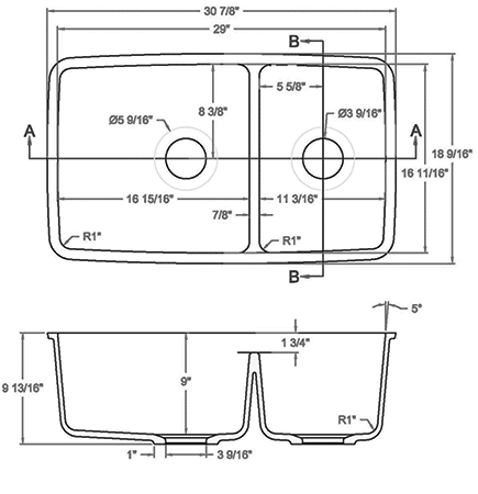 GEM-2917D solid surface sink measurement
