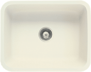 biscuit solid surface sink