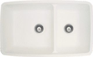 ivory solid surface sink