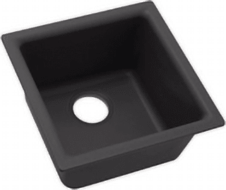 black quartz sink