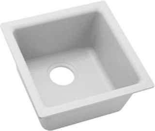 white quartz sink